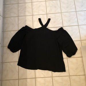 LOFT black cold shoulder blouse!